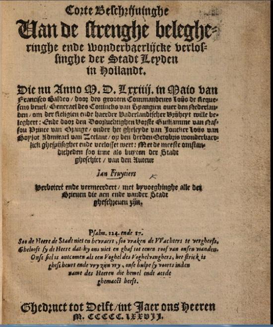 LeidensOntzetFruytiers1577