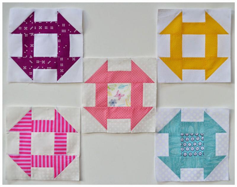 Churn Dash Blocks via Lily's Quilts