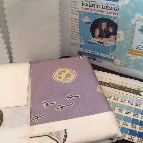 New fabric samples by Tiffany Howard
