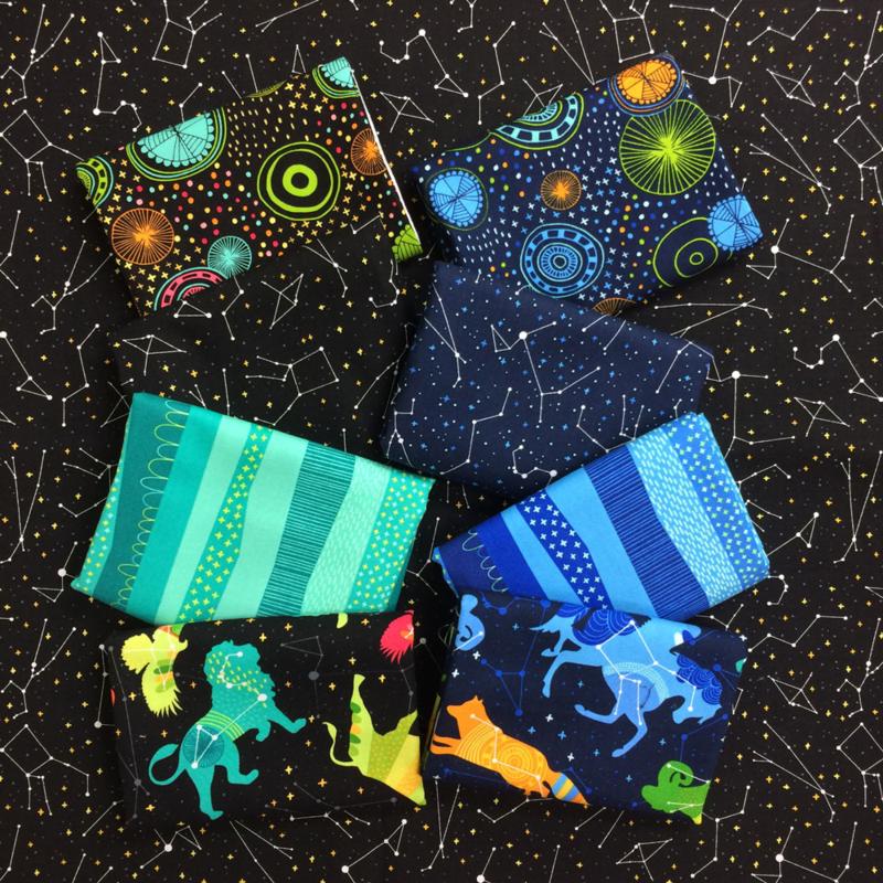 Lamai's Night Sky collection for Robert Kaufman Fabrics