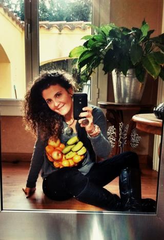 Cristina Romero, la iniciadora de la campaña, en su casa