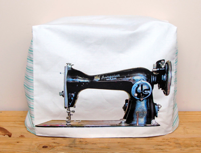 Custom sewing machine cover