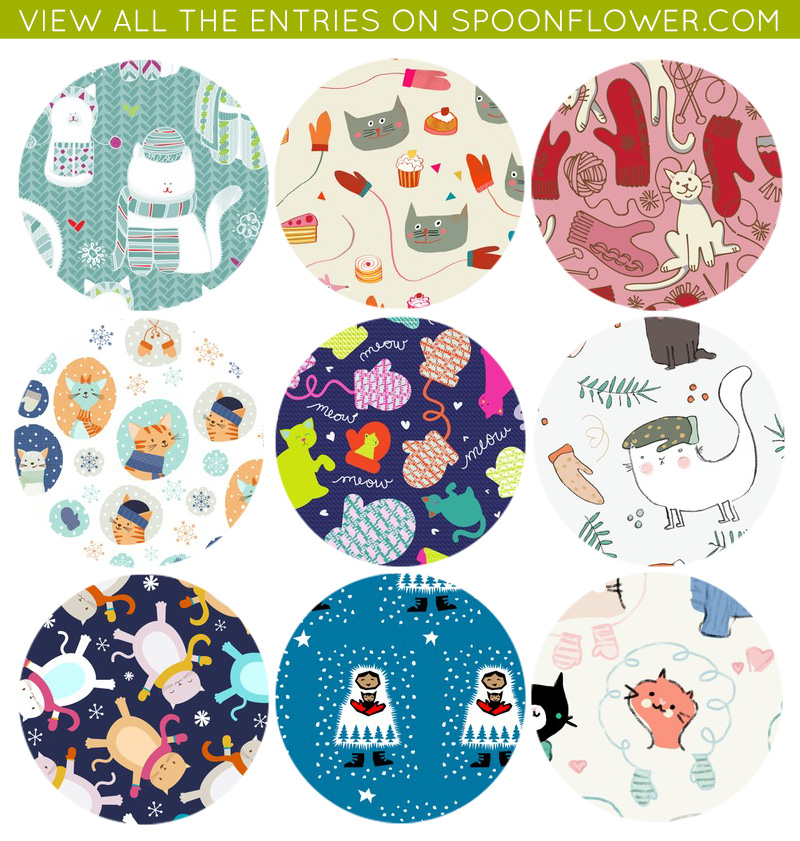 Kittens and Mittens Fabric