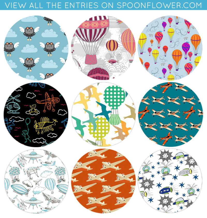 Vote for your favorite flying machine fabric!