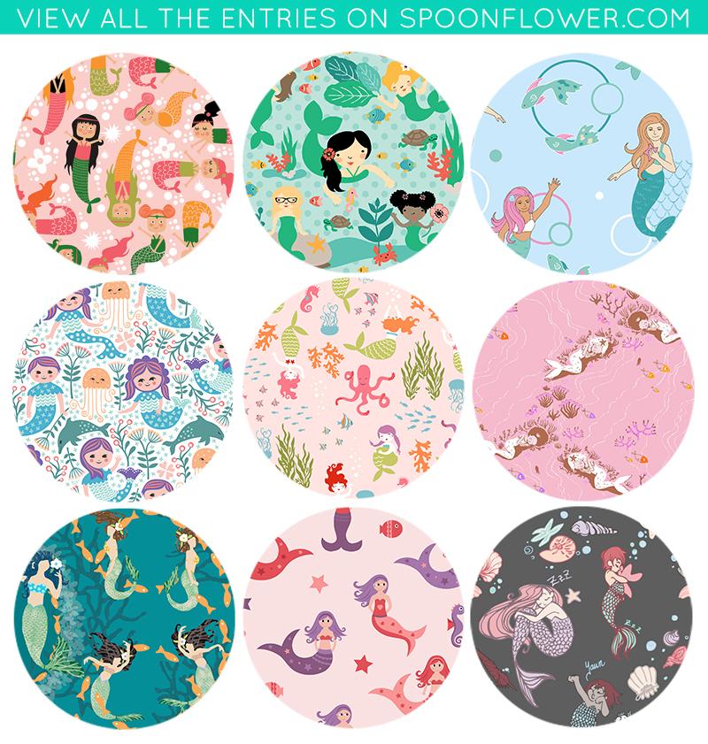 Vote for your favorite mermaid fabrics!