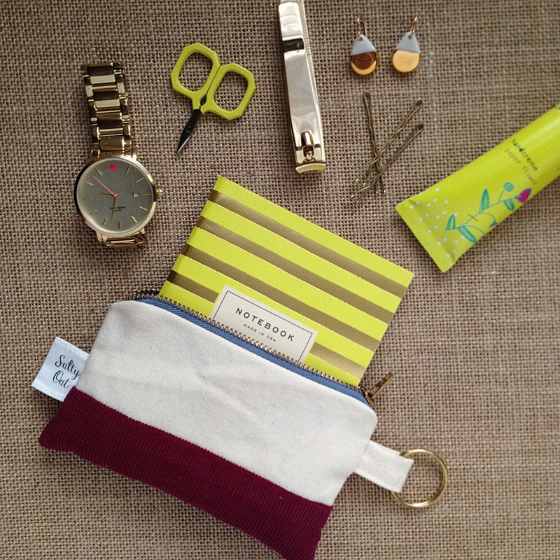 Finished zipper pouch