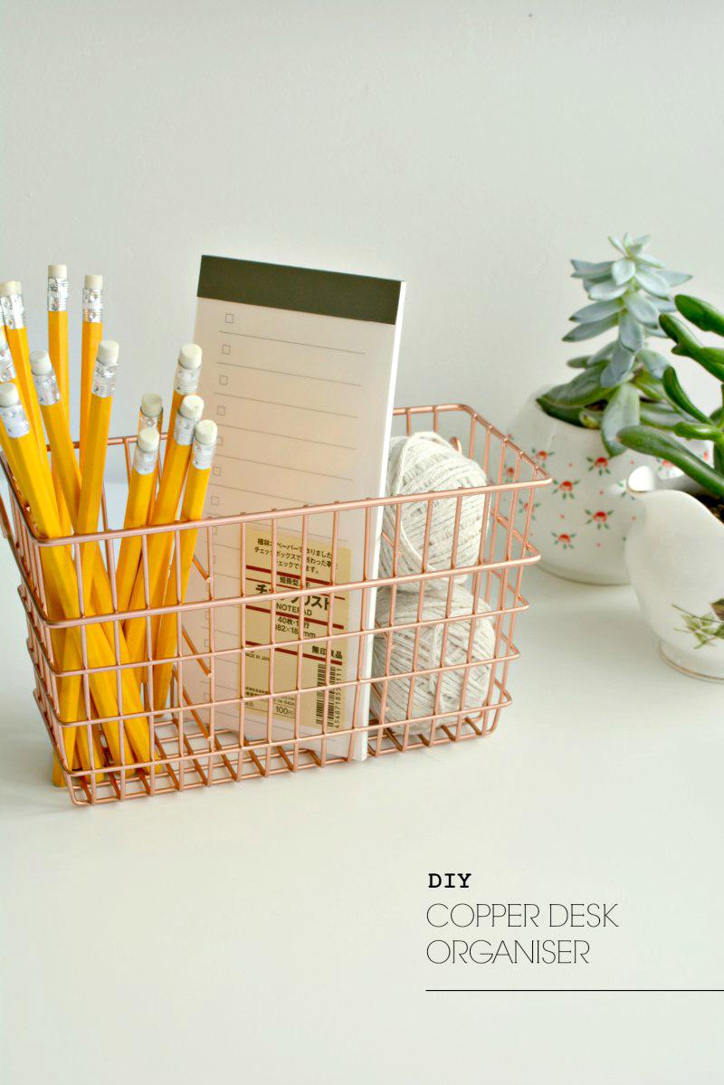 DIY desk organization