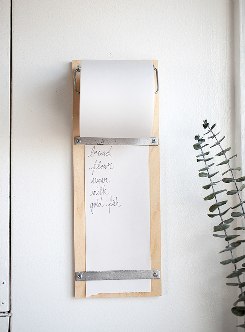 Wood shopping list