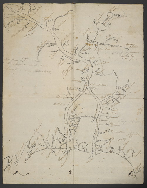 Map of Maguindanao, drawn by Fakih Maulana for Thomas Forrest, 1775. British Library, Add. 4924.