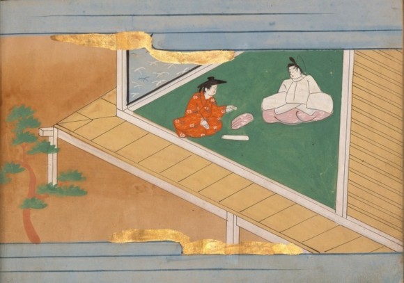 'The girl with a kneading bowl' (Hachikazuki 鉢かづき), early to mid Edo period (ca. 17th-18th century). Naraehon manuscript. British Library, Or.12885, f. 24