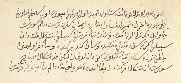 The disclaimer placed by the scribe Du'ad at the end of Hikayat Maharaja Boma. MSS Malay C 8, f. 64r