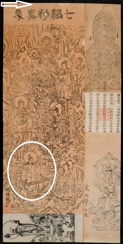 Daikoku with the Seven Deities of Good Fortune in Japan. [Ofuda harikomichō : Daiei Toshokanzō お札貼込帳 : 大英図書館蔵]. British Library 16007.d.1 (2) 21-25r