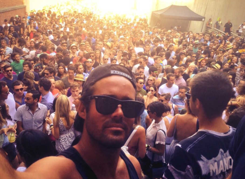 Me in large rave crowd at PS1