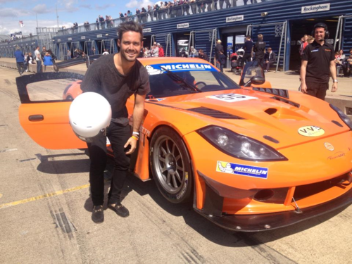 Me with Ginetta G90 car