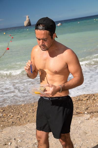 Light meal on the beach