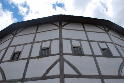 Outside view of the Globe theatre, London