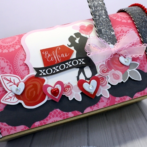 """""""Blowing Kisses"""" Altered Valentine Mailbox by Shellye McDaniel for #EchoParkPaper"""