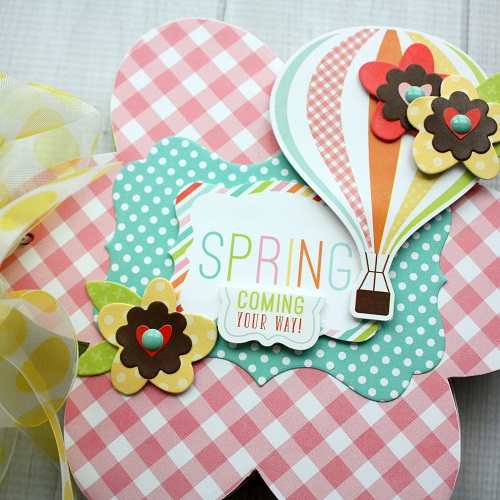 "Flower Shaped Mini Album by Shellye McDaniel with the ""Spring"" collection and Designer Dies from #EchoParkPaper"
