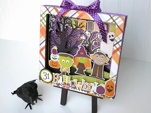 Halloween Shadow Box by Jana Eubank for #EchoParkPaper