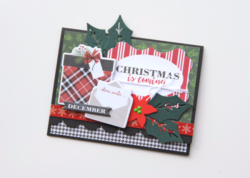 """""""A Week of Christmas Cards Day 2 - """"Christmas is Coming"""" card by Jana Eubank with the """"Christmas Delivery"""" collection by #CartaBellaPaper"""