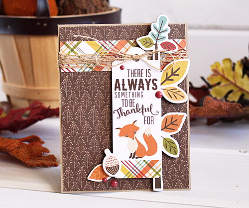 "Always something to be thankful for card by Kimberly Crawford with the ""Fall is in the Air"" collection by #EchoParkPaper"