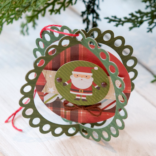 """Christmas Ornament by Tegan Skwiat with the """"I Love Christmas"""" collection and designer dies by #EchoParkPaper"""