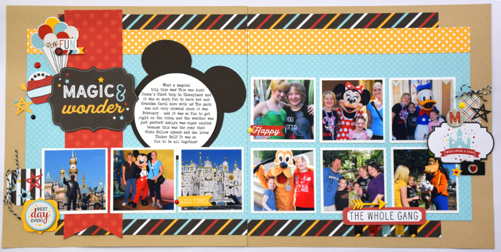 A Week Of Magic Wonder Day 4 Double Page Layout Echo Park Paper