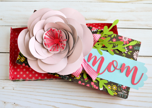 "Peony Mother's Day Gift Box by Wendy Sue Anderson with the ""Summer Fun"" collection and Silhouette Cut Files by #EchoParkPaper"