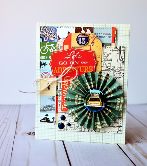 "Masculine card by Wendy Sue Anderson featuring the ""Are We There Yet"" collection from #CartaBellaPaper"
