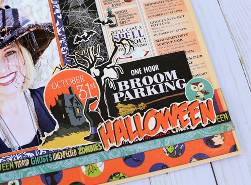 """Good Witch Halloween layout by Jana Eubank for #CartaBellaPaper with their """"Haunted House"""" collection"""