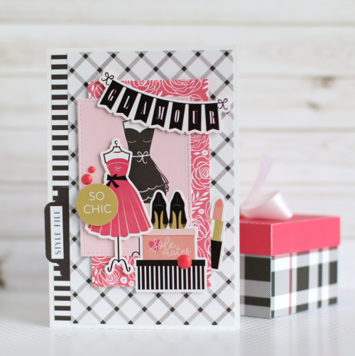 """Glamour"" card by Anya Lunchenko with the ""Fashionista"" collection by #EchoParkPaper"