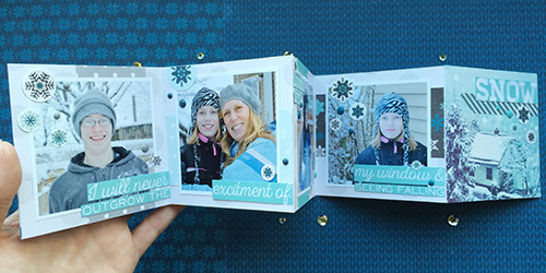 "Create a mini accordion style album with the ""Hello Winter"" collection by #EchoParkPaper.  Designer Aly Dosdall shares her album, and tutorial, on the Echo Park blog!"