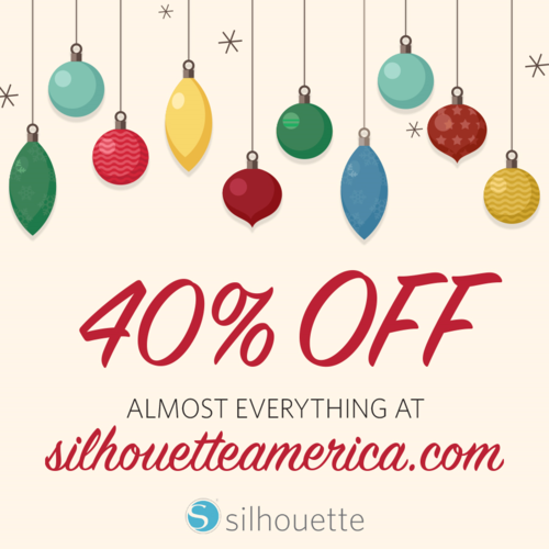 black friday special - 40% off almost everything at silhouetteamerica.com