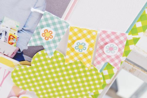 "8x8 ""Easter"" layouts by Becki Adams for #EchoParkPaper"