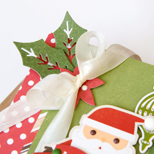 """Santa Claus gift box by Tegan Skwiat with the """"I Love Christmas"""" collection and designer dies by #EchoParkPaper"""