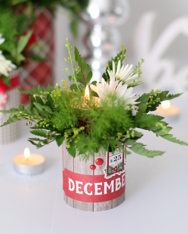 Create these stunning centerpieces with quot christmas