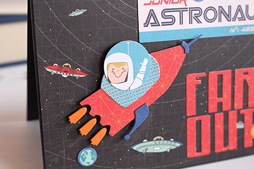 "Far out card by Kimberly Crawford with the ""Space Academy"" collection and designer dies by #CartaBellaPaper"