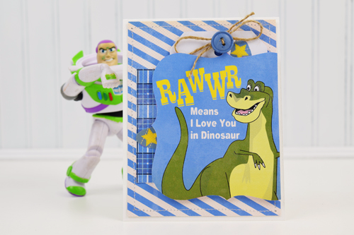 """Rawwr"" card by Becki Adams featuring the ""Toy Box"" collection by #CartaBellaPaper"