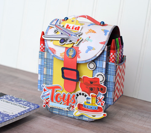 """Toy Box Backpack Activity Set by Jana Eubank with the """"Toy Box"""" Collection from #CartaBellaPaper"""