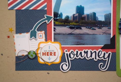 """Two Page layout by Tya Smith featuring the """"Go. See. Explore."""" collection by #EchoParkPaper"""