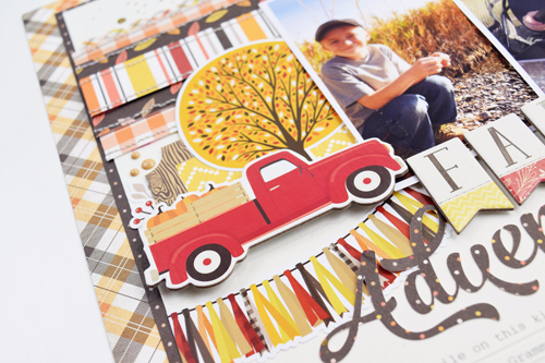 "Fall Adventure layout by Becki Adams with the ""Hello Fall"" Collection from #CartaBellaPaper"