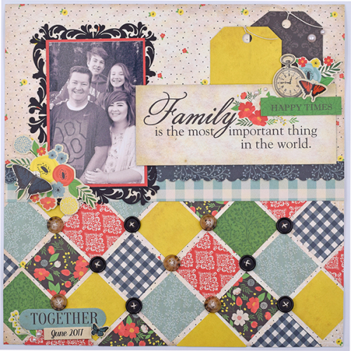 "Family layout by Tya Smith with the ""Our Family"" Collection by #CartaBellaPaper"