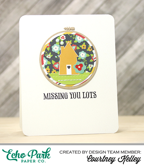"""Missing You Lots Card by Courtney Kelley with the """"Our Family"""" collection by @echoparkpaper"""