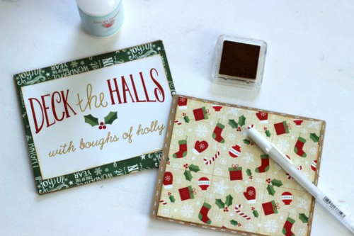 "Christmas Mini Ablum by designer Holly Gagnon featuring ""The Story of Christmas Collection"" by #EchoParkPaper."