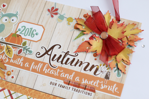"Gratitude calendar project by Anya Lunchenko featuring the ""Fall is in the Air"" collection and designer dies by #EchoParkPaper"
