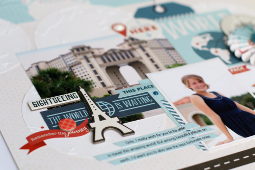 """Explore Layout by Anya Lunchenko featuring the """"Go. See. Explore."""" collection from #EchoParkPaper"""