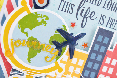 """Life Is amazing Card by Becki Adams with the """"Go. See. Explore."""" collection from #EchoParkPaper"""