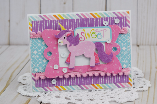 "Sweet Unicorn Card by Becki Adams with the ""Perfect Princess"" collection from #EchoParkPaper"