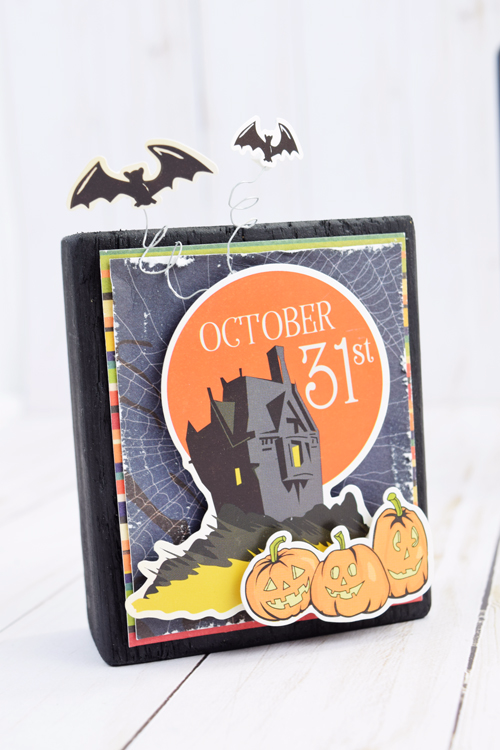 "Halloween Blocks by Becki Adams with the ""Haunted House"" collection by #CartaBellaPaper"