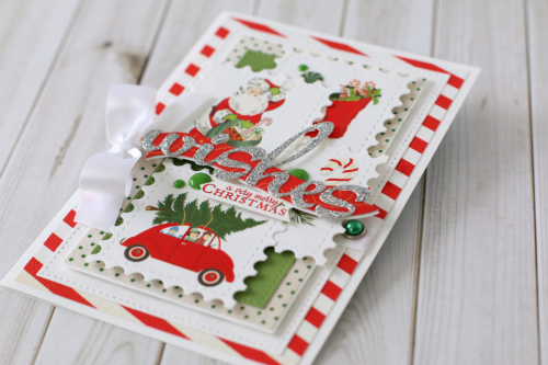"Christmas wishes card by Anya Lunchenko with the ""A Very Merry Christmas"" collection by #CartaBellaPaper"